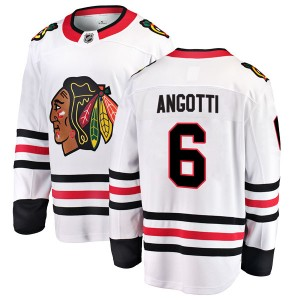 Men's Fanatics Branded Chicago Blackhawks Lou Angotti White Away Jersey - Breakaway