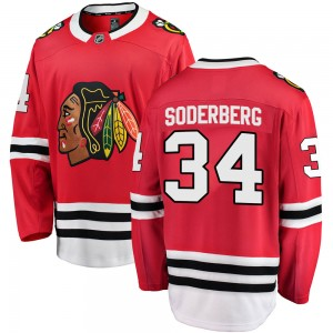 Youth Fanatics Branded Chicago Blackhawks Carl Soderberg Red Home Jersey - Breakaway
