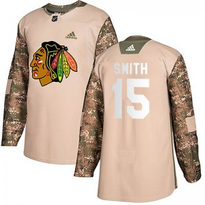 Youth Adidas Chicago Blackhawks Zack Smith Camo Veterans Day Practice Jersey - Authentic