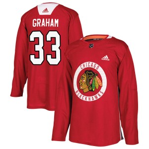 Youth Adidas Chicago Blackhawks Dirk Graham Red Home Practice Jersey - Authentic
