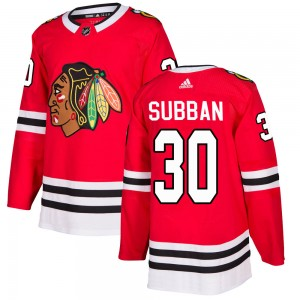 Youth Adidas Chicago Blackhawks Malcolm Subban Red ized Home Jersey - Authentic
