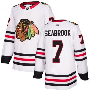 Women's Adidas Chicago Blackhawks Brent Seabrook White Away Jersey - Authentic